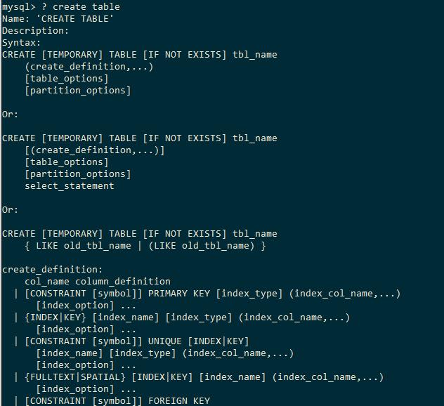 MySQL Help Show Data Grammar