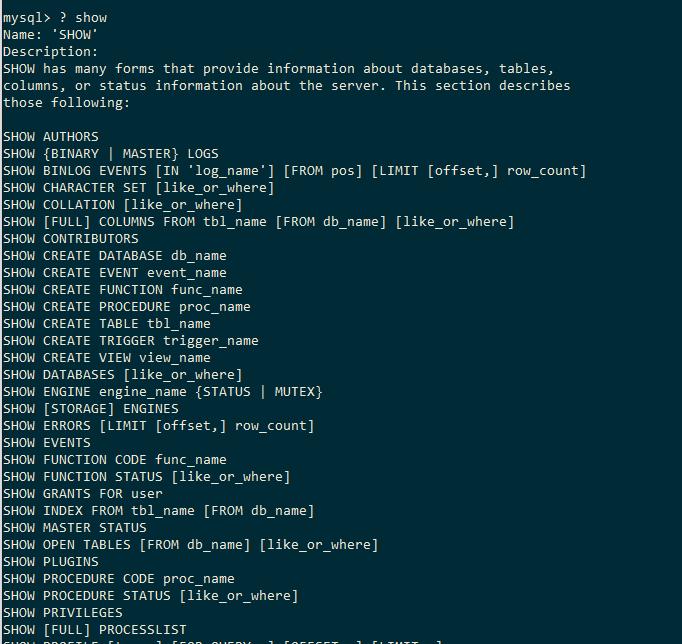 MySQL Help Show Data