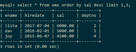 MySQL Data Order By Limit Range