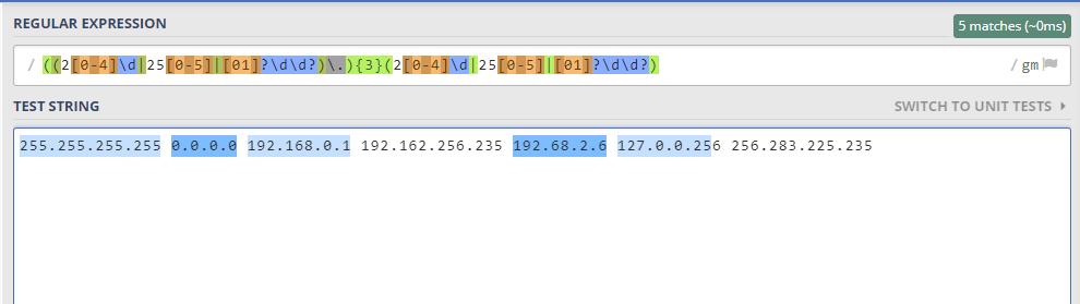 IP正则表达式